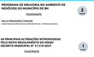 SESCON/MG EM PARCERIA COM A PBH REALIZA PALESTRAS GRATUITAS- PONTUA PARA O PROGRAMA DE EDUCAÇÃO CONTINUADA DO CRCMG