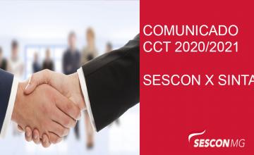 COMUNICADO – CONVENÇÃO COLETIVA – CCT 2020/2021
