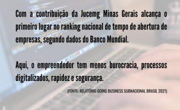 Minas Gerais é estado que mais rápido abre uma empresa no país, aponta relatório Doing Business Subnacional Brasil 2021