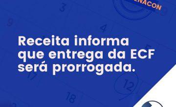 Receita informa que entrega da ECF será prorrogada