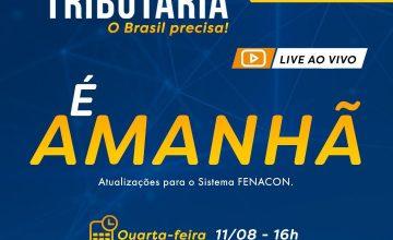 É AMANHÃ! LIVE IMPERDÍVEL!!! Reforma Tributária. O Brasil precisa!