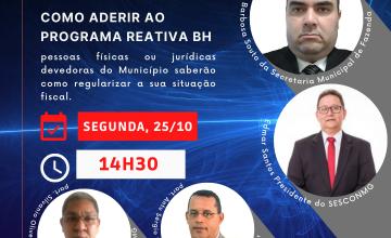 LIVE – COMO ADERIR AO PROGRAMA REATIVA BH